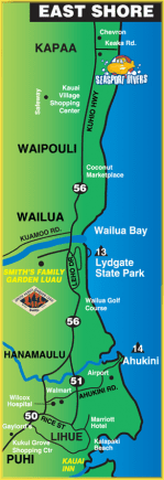 east kauai scuba diving sites